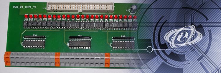 Модуль выходов UMK-DO24 для DIN-рейки